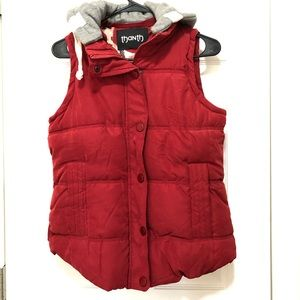 Women's Puffer vest with removable hood SZ L
